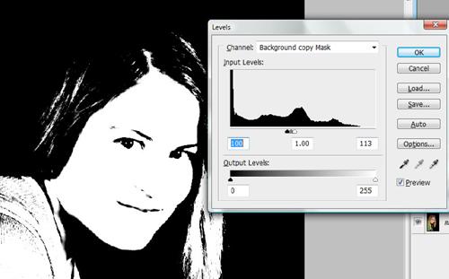 Add a background layer mask
