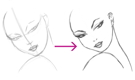 Female Face Outline Drawing Draw a Female Face