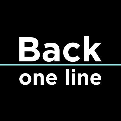 Back one line