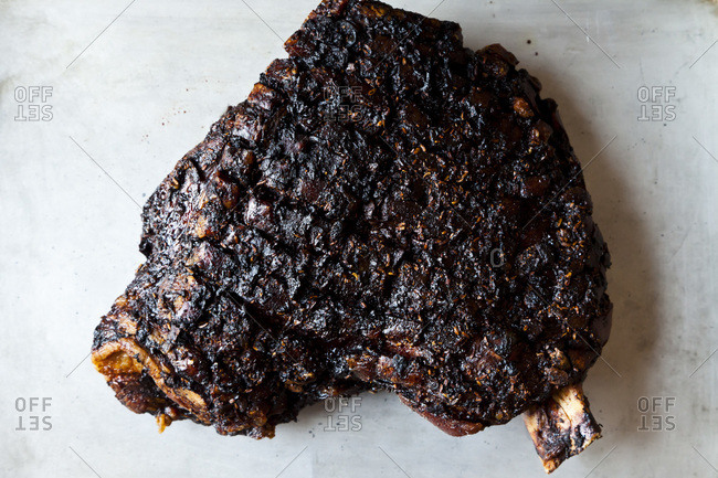 Oven baked roasted rib