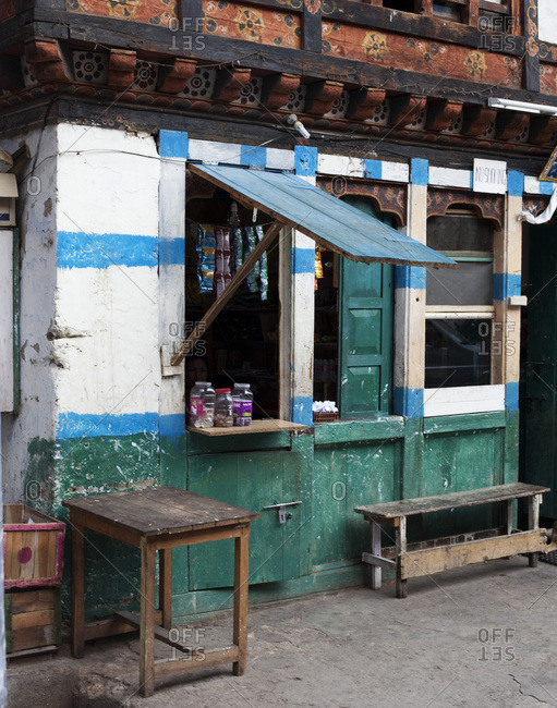 Small shop in an old town.