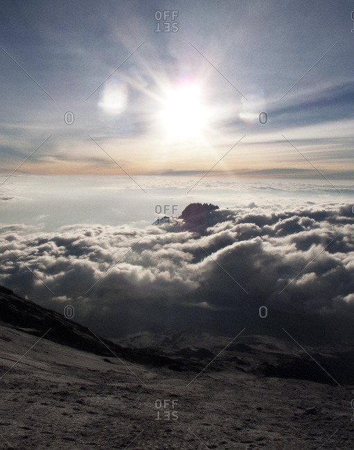 Cumulus formation over mountains