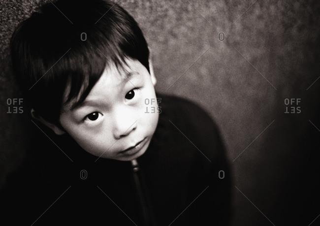 wide-eyed child