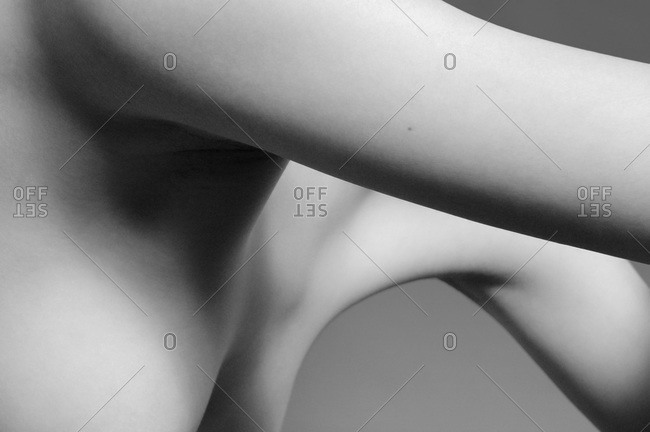 Close-up of woman's armpit