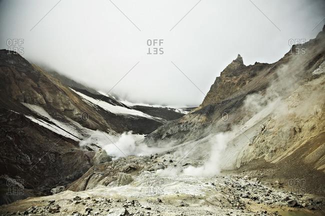 Fumaroles on Mutnovsky Volcano, Kamchatka, Petropavlovsk Kamchatsky, Russia