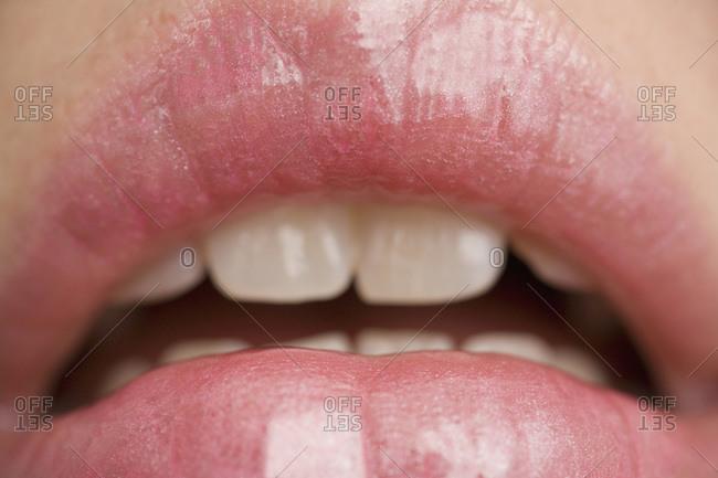 A woman's lips
