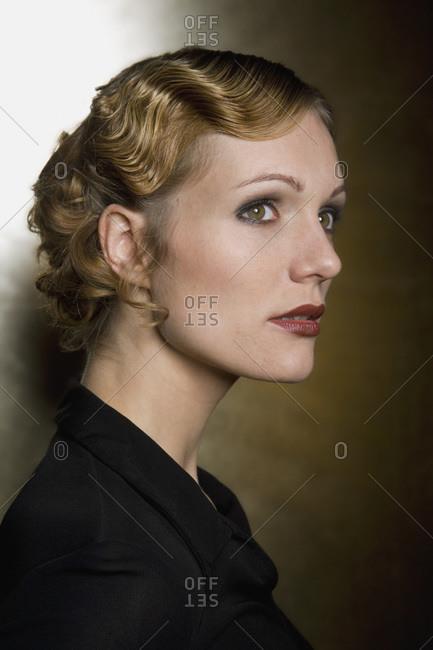 Woman wearing evening wear