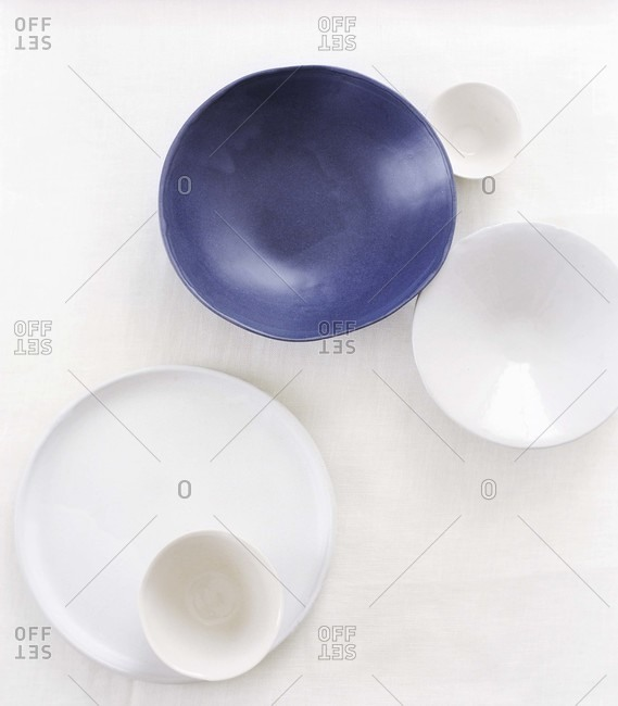 Arranged bowl from above.