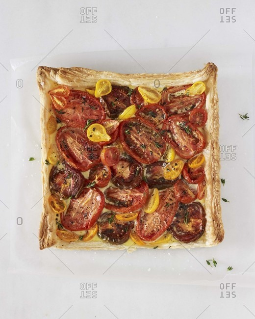 Tomato tart from above