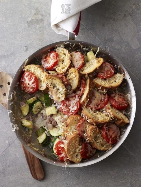 Zucchini Tomato Strata From Above