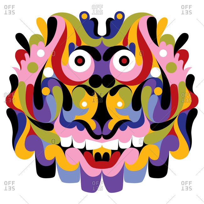 Colorful Cheshire cat