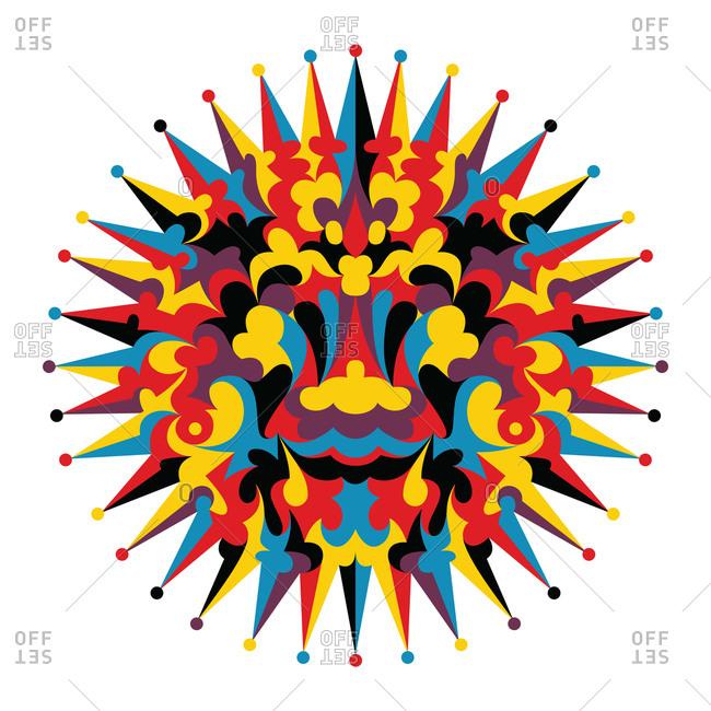 Smiling multicolor sun