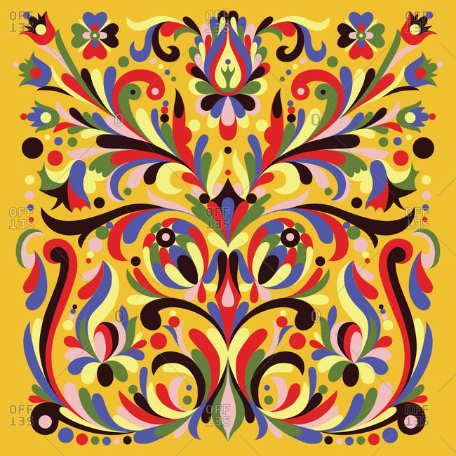 Colorful kurbits flower decoration