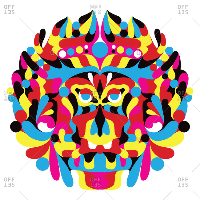 Vibrant colored mask