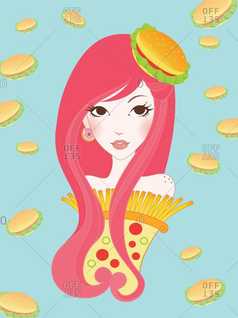 A fast food goddess