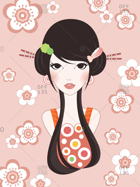 A sushi goddess