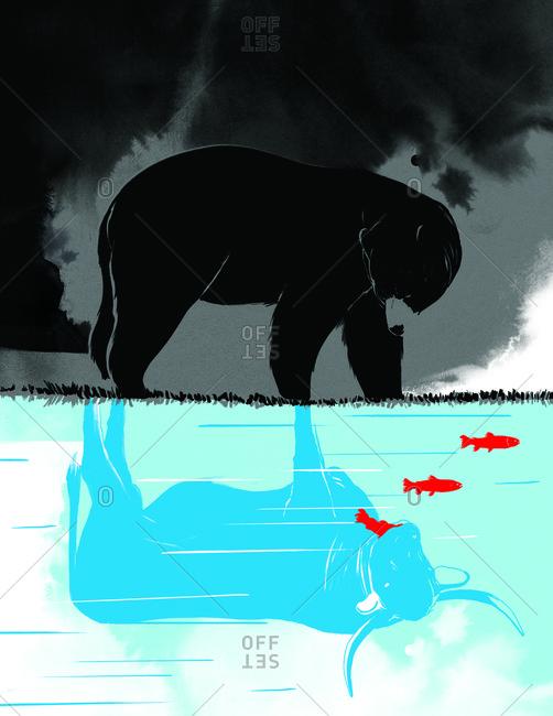Representation of bear and bull market