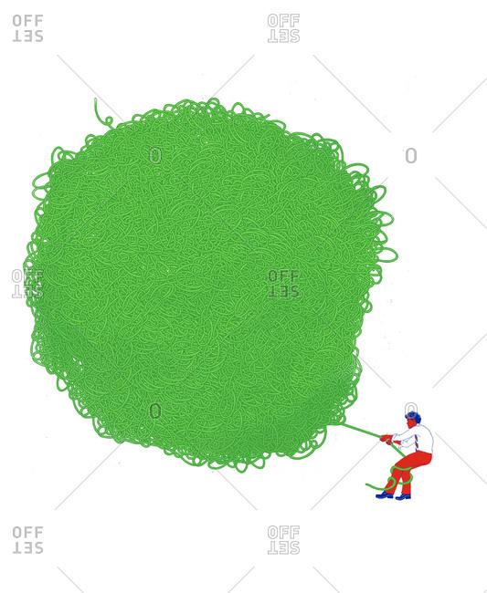 A man worth a pile of green thread