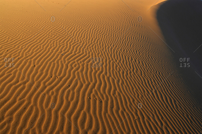 Sand striations of Namibia coast