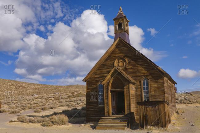 USA, California, Bodie, Old church in desert