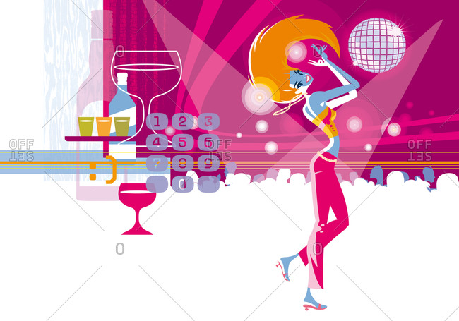 Girl dancing in the disco