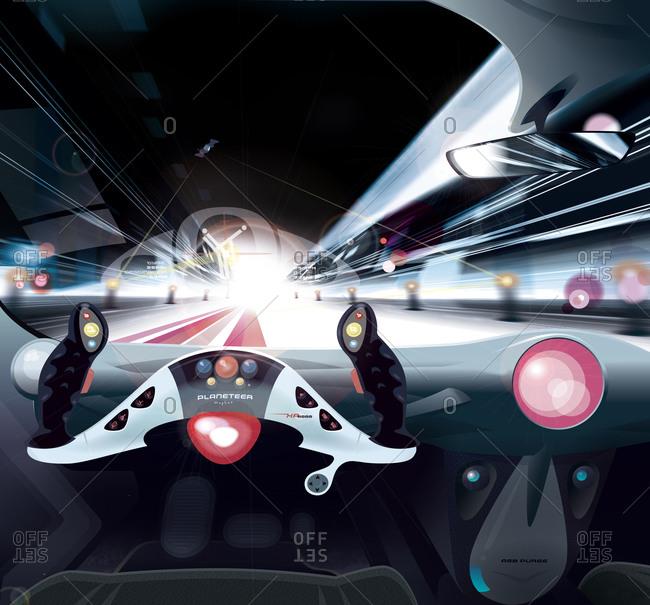 Car speeding and dashing
