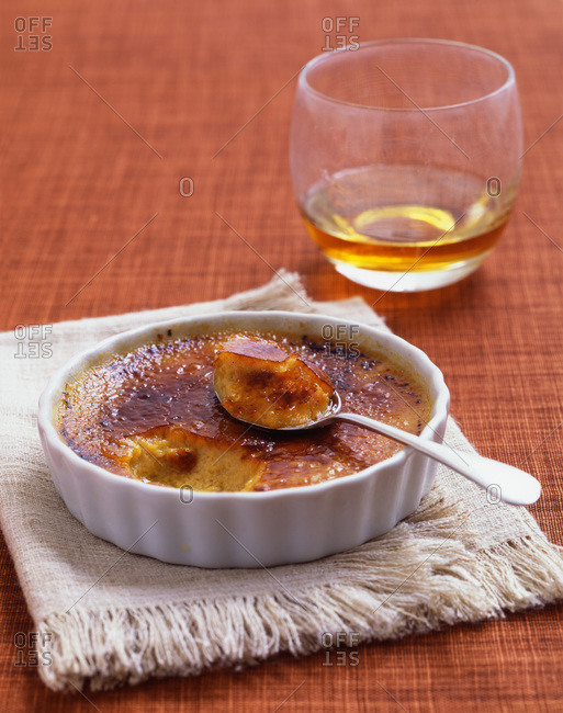 Creme brulee with cognac.