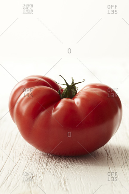 Close up of a fresh beefsteak tomato