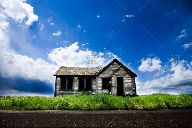 An old deserted schoolhouse