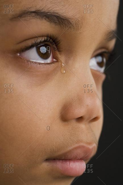 Young girl crying