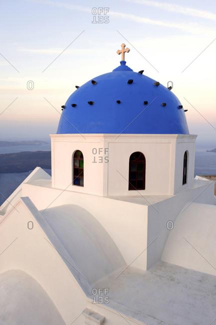 Blue dome of orthodox Greek church