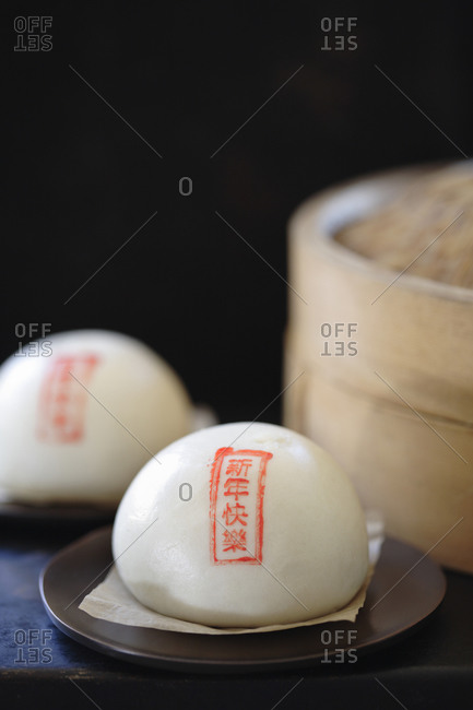 Steamed red bean buns