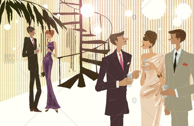 Illustration of People, enjoying party