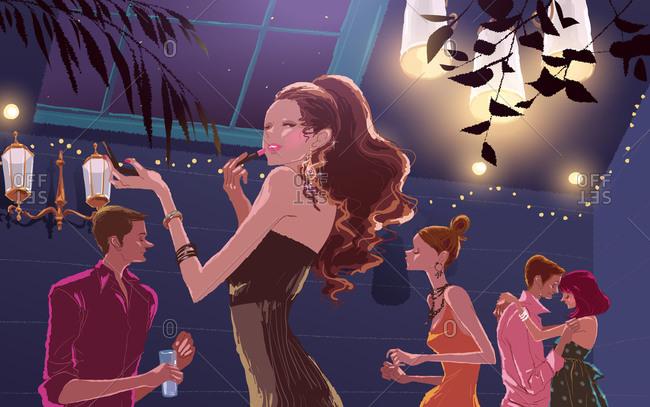 Group of People, dancing in nightclub