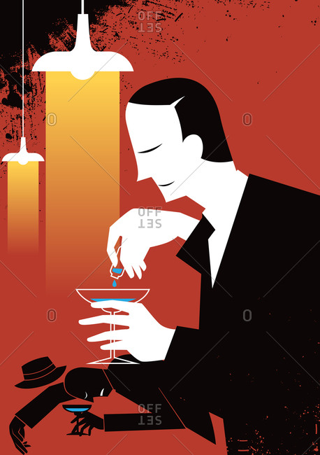 Businessman Adding Poisonous Substance In Drink