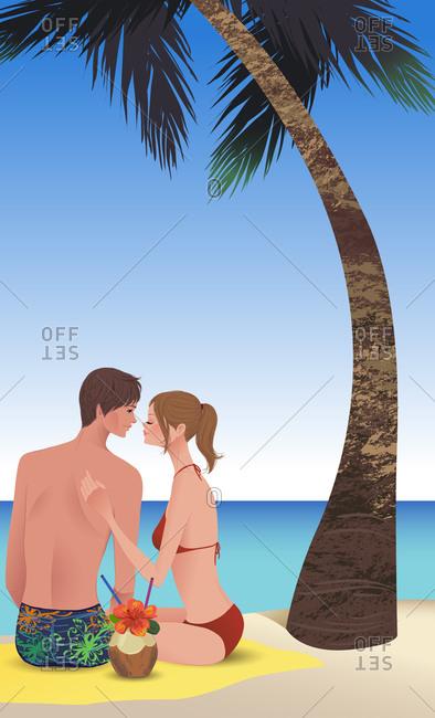 Couple On Beach Resort