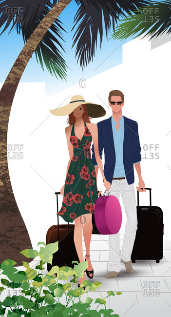 Couple On Holiday Travel - Offset