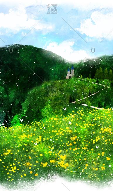 Castle Over The Green Mountain