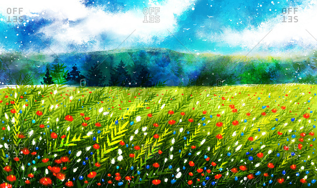 Meadow And Mountain - Offset Collection