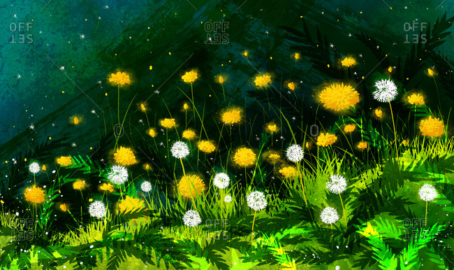 Flowers In Meadow - Offset Collection