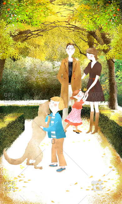 Family At Garden - Offset Collection
