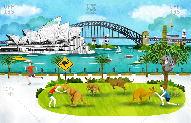 Australia, New South Wales, Sydney, Opera House And Harbor Bridge