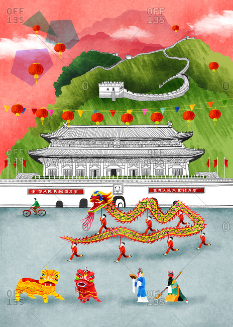 Chinese Dragons Celebration