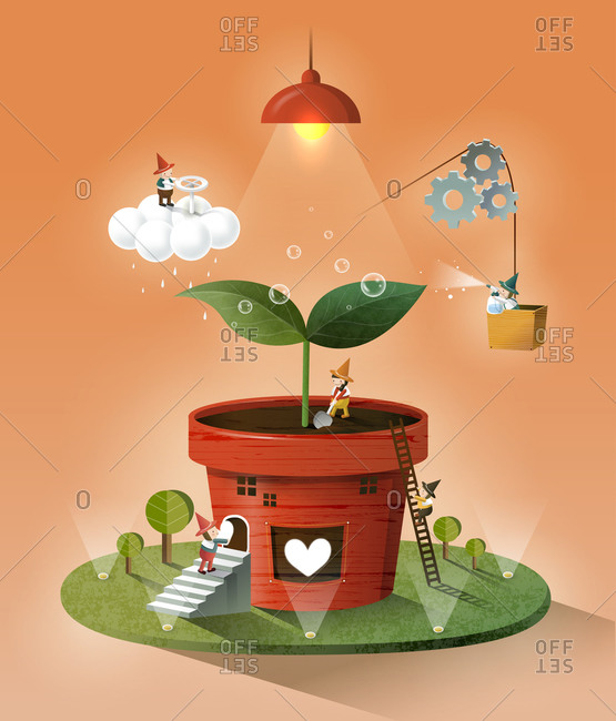 Potted Plant from the Offset Collection