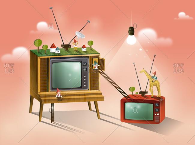 People, On Television Set
