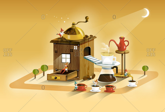 Coffee Maker An Coffee Cup