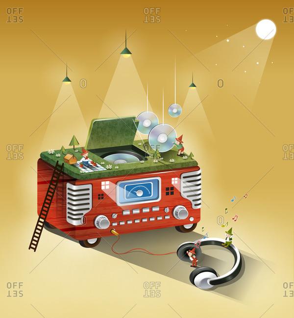 Radio With Headphone