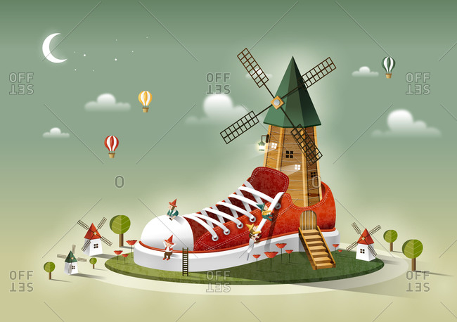 Windmill On Shoe