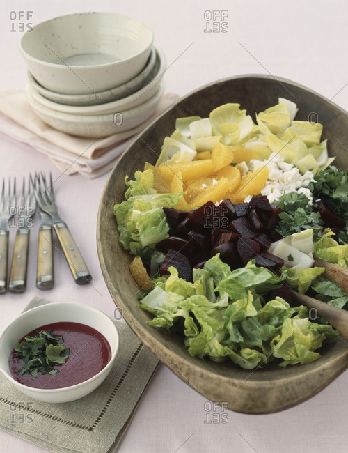 Bowl of fresh fruit and vegetables