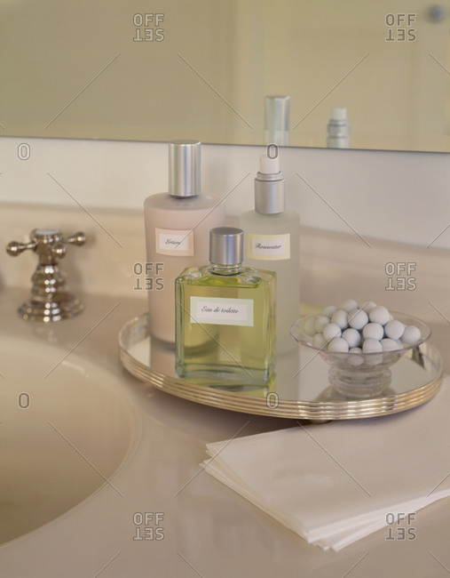 Body care products in the bathroom